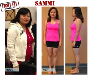 Sammi before after picture